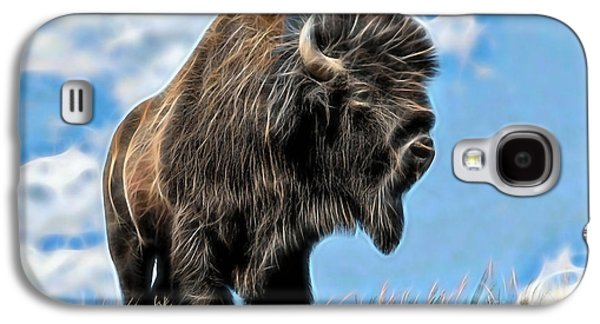 Bison Mixed Media Galaxy S4 Cases - Bison Collection Galaxy S4 Case by Marvin Blaine