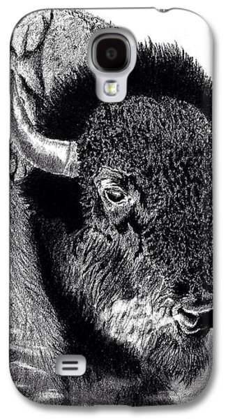 Bison Drawings Galaxy S4 Cases - Bison Galaxy S4 Case by Tony Holm