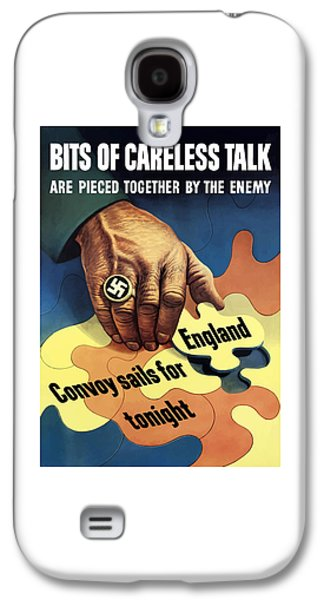 Lips Galaxy S4 Cases - Bits Of Careless Talk Galaxy S4 Case by War Is Hell Store