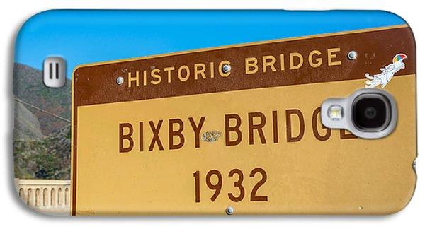 Bixby Bridge Galaxy S4 Cases - Bixby Bridge Sign Galaxy S4 Case by Joseph S Giacalone