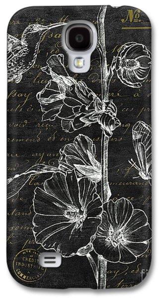 Botanical Galaxy S4 Cases - Black and Gold Hummingbirds 2 Galaxy S4 Case by Debbie DeWitt