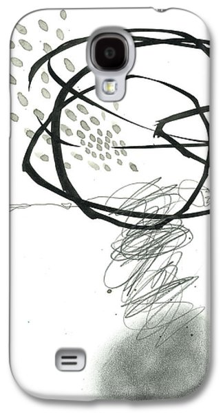Drawing Paintings Galaxy S4 Cases - Black and White # 10 Galaxy S4 Case by Jane Davies