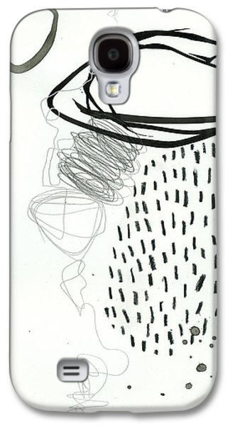 Drawing Paintings Galaxy S4 Cases - Black and White # 11 Galaxy S4 Case by Jane Davies
