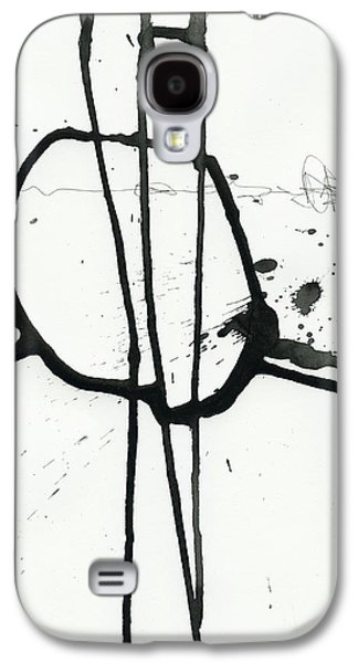 Drawing Paintings Galaxy S4 Cases - Black and White # 12 Galaxy S4 Case by Jane Davies