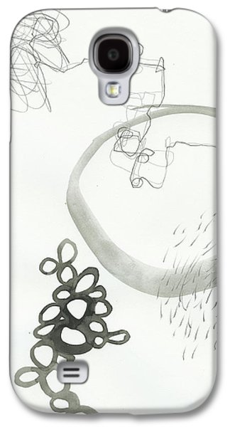 Drawing Galaxy S4 Cases - Black and White # 23 Galaxy S4 Case by Jane Davies