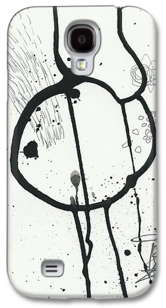 Drawing Paintings Galaxy S4 Cases - Black and White # 24 Galaxy S4 Case by Jane Davies