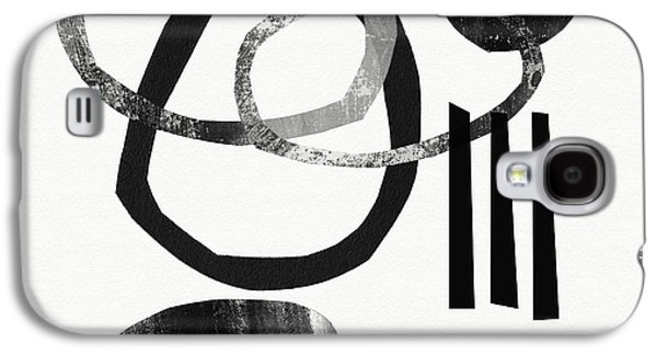 """""""geometric Art"""" Galaxy S4 Cases - Black and White- Abstract Art Galaxy S4 Case by Linda Woods"""