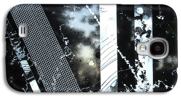 Business Galaxy S4 Cases - Black and White Abstract Galaxy S4 Case by Louise Adams