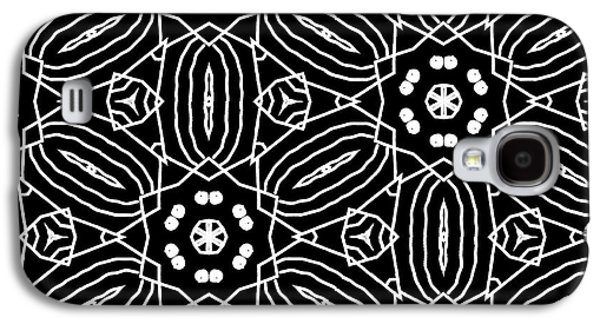 Black And White Boho Pattern 2- Art By Linda Woods Galaxy S4 Case by Linda Woods