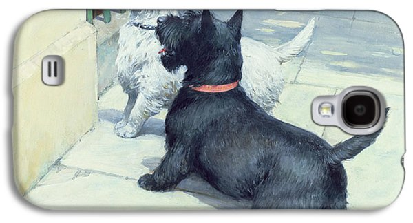 Breed Of Dog Galaxy S4 Cases - Black and White Dogs Galaxy S4 Case by Septimus Edwin Scott