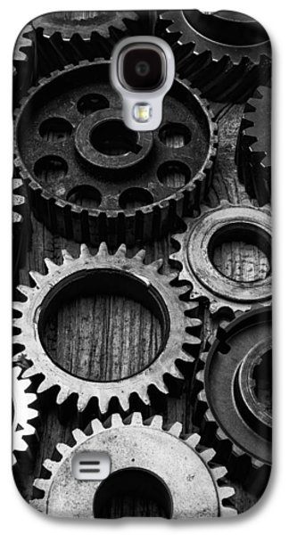 Black And White Gears Galaxy S4 Case by Garry Gay