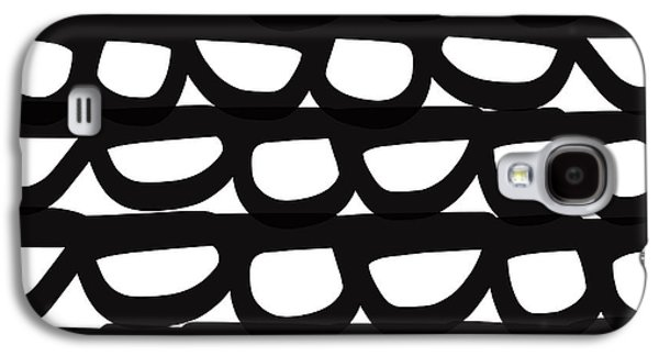 Black And White Pebbles- Art By Linda Woods Galaxy S4 Case by Linda Woods