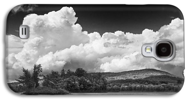 Maine Photographs Galaxy S4 Cases - Black And white Vienna Maine Flying Pond With Storm Clouds Fine Art Print Galaxy S4 Case by Keith Webber Jr