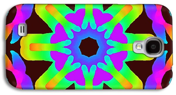 Abstract Digital Paintings Galaxy S4 Cases - Black Ball Galaxy S4 Case by Floyd Snyder