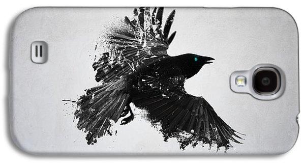 Abstract Digital Art Galaxy S4 Cases - Black Crow  Galaxy S4 Case by Teun Van der Beek