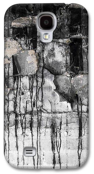Abstracted Galaxy S4 Cases - Black Drips Galaxy S4 Case by Svetlana Sewell
