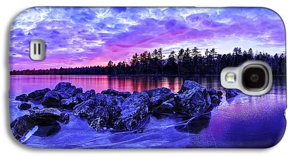 Photographic Art Galaxy S4 Cases - Black Ice at Twilight Panorama Galaxy S4 Case by Bill Caldwell -        ABeautifulSky Photography