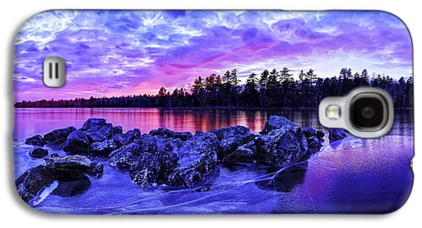 Bill Caldwell Galaxy S4 Cases - Black Ice at Twilight Panorama Galaxy S4 Case by Bill Caldwell -        ABeautifulSky Photography