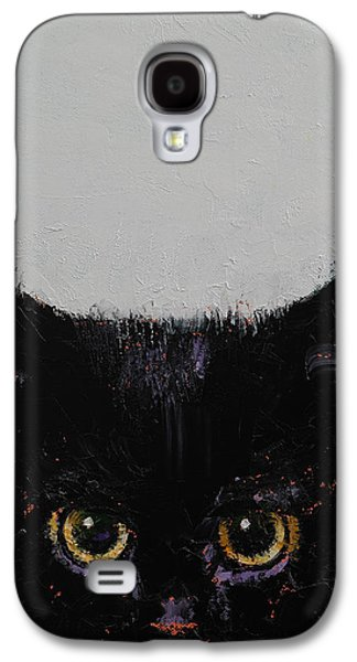 Black Kitten Galaxy S4 Case by Michael Creese