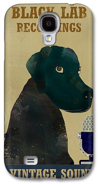 Labrador Digital Galaxy S4 Cases - Black Lab Records Galaxy S4 Case by Bri Buckley