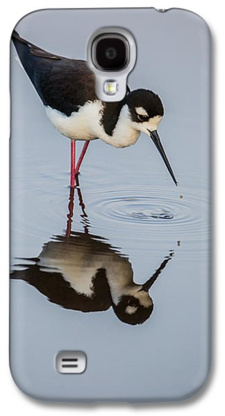 Black-necked Stilt Reflection Galaxy S4 Case by Andres Leon