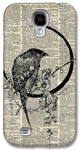 Black Raven Bird Galaxy S4 Case by Jacob Kuch