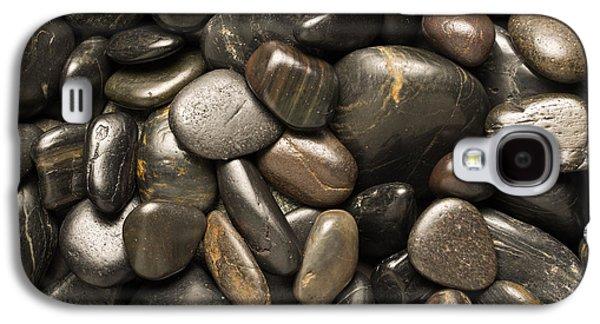 Studio Photographs Galaxy S4 Cases - Black River Stones Square Galaxy S4 Case by Steve Gadomski