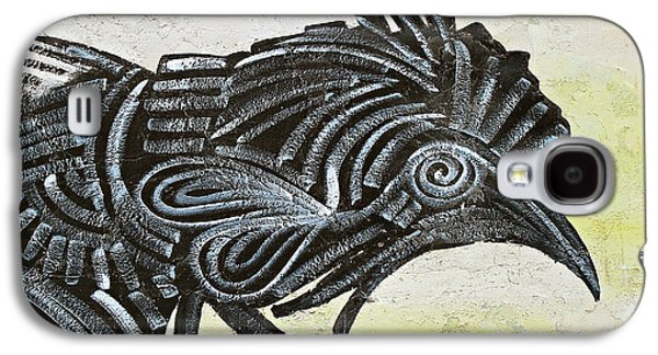 Black Rooster Galaxy S4 Case by Ethna Gillespie