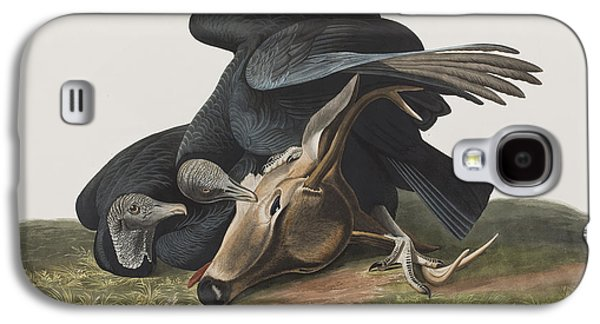 Black Vulture Or Carrion Crow Galaxy S4 Case by John James Audubon