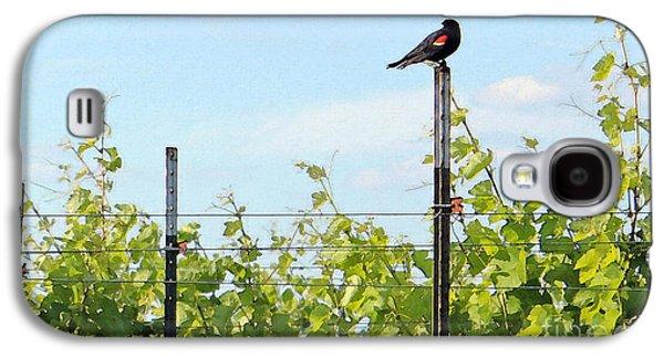 Red Wine Prints Galaxy S4 Cases - Blackbird Has Spoken Galaxy S4 Case by Joe Jake Pratt