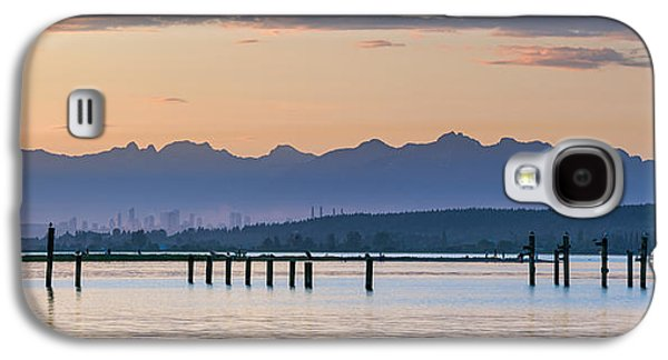 Beach Landscape Galaxy S4 Cases - Blackie Spit Panorama Galaxy S4 Case by Michael Russell