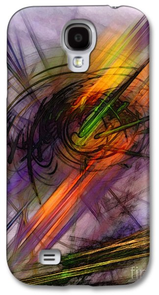 Modern Abstract Galaxy S4 Cases - Blazing Abstract Art Galaxy S4 Case by Karin Kuhlmann