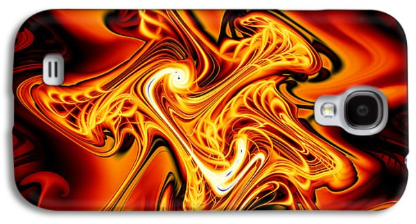 Abstract Digital Digital Galaxy S4 Cases - Blazing Cipher Galaxy S4 Case by Vicky Brago-Mitchell