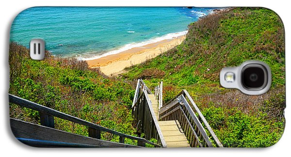 Staircase Paintings Galaxy S4 Cases - Block Island Art Galaxy S4 Case by Lourry Legarde