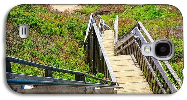 Staircase Paintings Galaxy S4 Cases - Block Island Beach - Rhode Island Galaxy S4 Case by Lourry Legarde