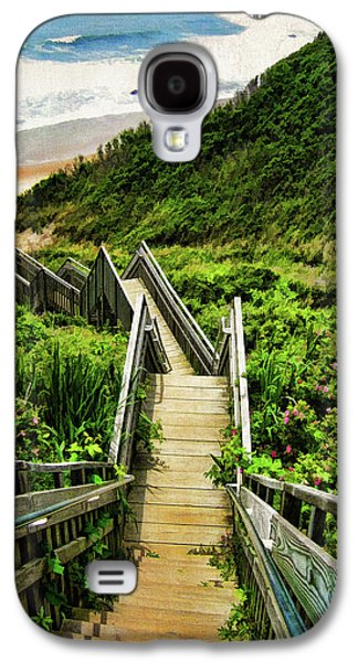 Beach Landscape Galaxy S4 Cases - Block Island Galaxy S4 Case by Lourry Legarde