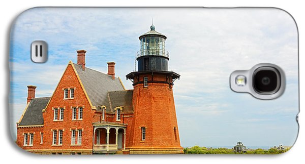 New England Lighthouse Paintings Galaxy S4 Cases - Block Island Southeast Lighthouse Artwork Galaxy S4 Case by Lourry Legarde