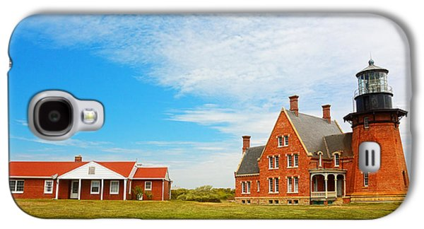 New England Lighthouse Paintings Galaxy S4 Cases - Block Island Southeast Lighthouse Rhode Island Galaxy S4 Case by Lourry Legarde