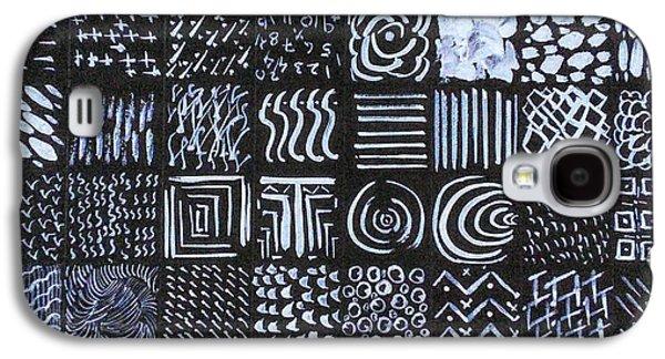Block Print Drawings Galaxy S4 Cases - Block prints Galaxy S4 Case by Vineeth Menon