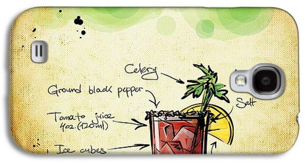 Digital Drawings Galaxy S4 Cases - Bloody Mary Recipe Galaxy S4 Case by Alexas Fotos