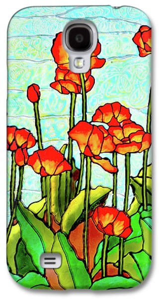 Green Glass Galaxy S4 Cases - Blooming Flowers Galaxy S4 Case by Farah Faizal