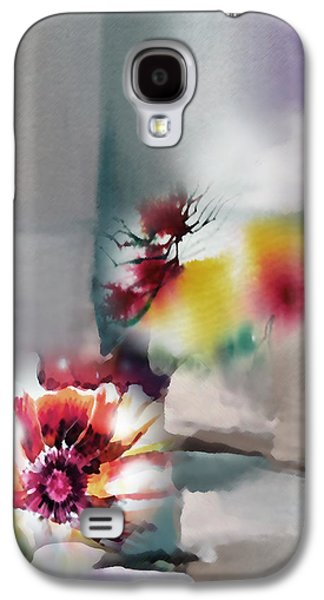 Abstract Digital Mixed Media Galaxy S4 Cases - Blooms R Galaxy S4 Case by Anil Nene