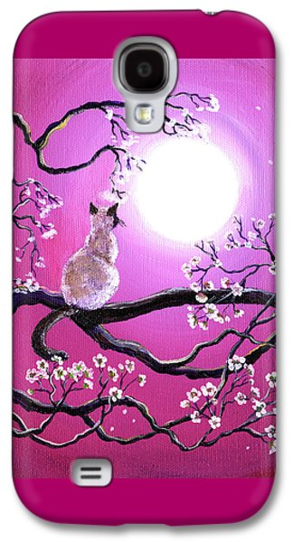 Blossoms In Fuchsia Moonlight Galaxy S4 Case by Laura Iverson