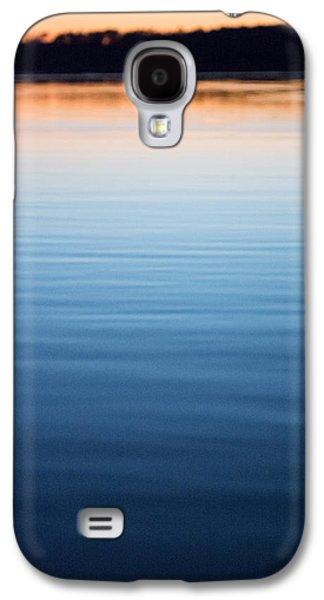 Sunset Abstract Galaxy S4 Cases - Blue and Gold  Galaxy S4 Case by Parker Cunningham