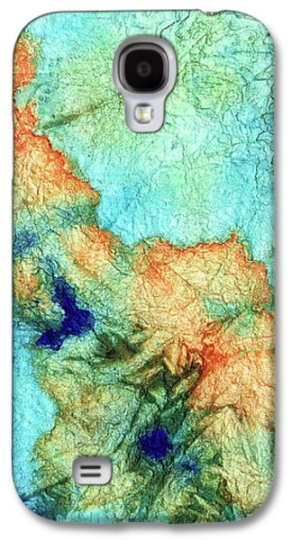 Blue And Orange Abstract - Time Dance - Sharon Cummings Galaxy S4 Case by Sharon Cummings