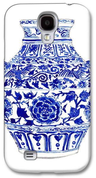 Blue And White Ginger Jar Chinoiserie 4 Galaxy S4 Case by Laura Row