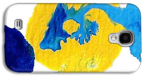 Abstract Forms Galaxy S4 Cases - Blue and yellow Interactions A Galaxy S4 Case by Amy Vangsgard