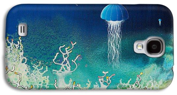 Angel Mermaids Ocean Galaxy S4 Cases - Blue Angels Galaxy S4 Case by Lee Pantas