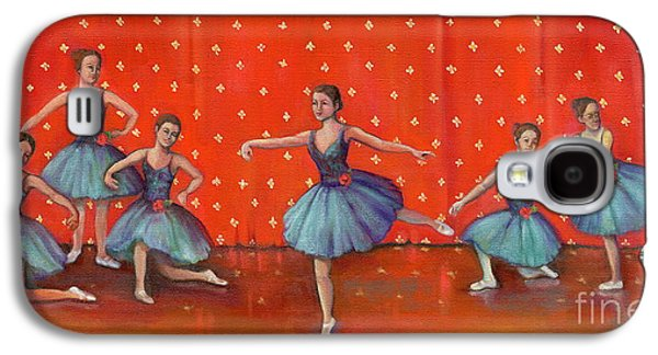Dance Ballet Roses Galaxy S4 Cases - Blue Ballerinas Galaxy S4 Case by Marlene Book