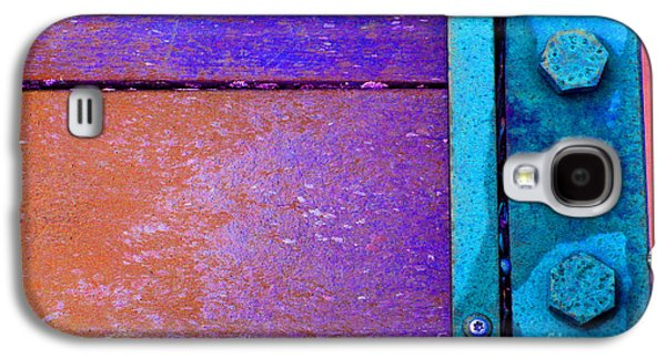 Component Photographs Galaxy S4 Cases - Blue Bridge Bolts Galaxy S4 Case by Karen Adams